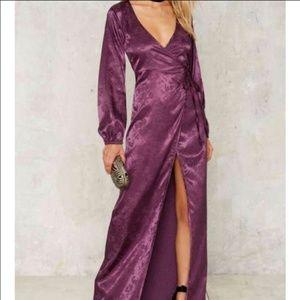 Nasty Gal wrap maxi dress s XS